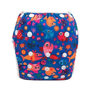 Многоразовые трусики для плавания Berni  Разноцветные пираньи 3-10кг Синий (51954)