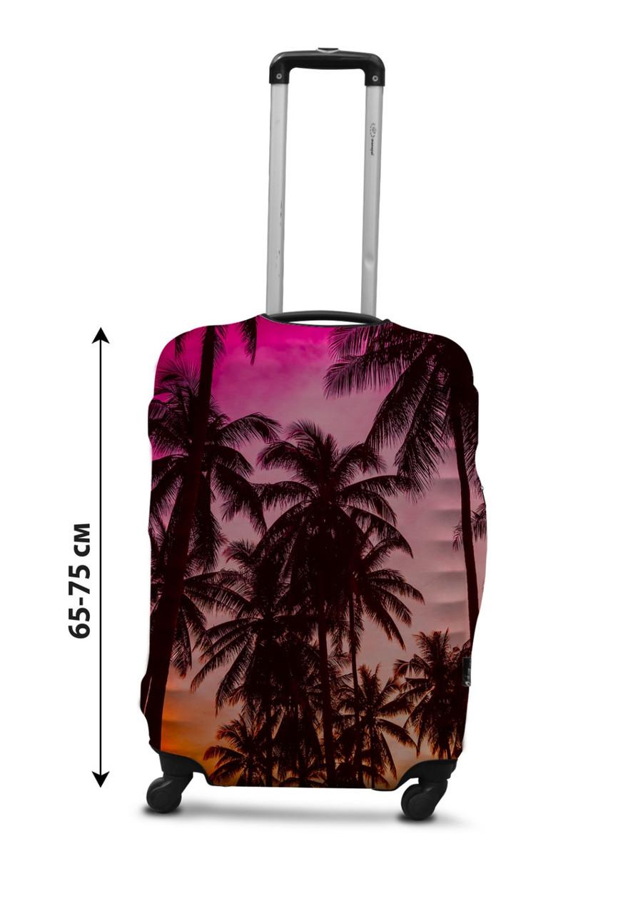 Чохол для валізи Coverbag захід L принт 0431