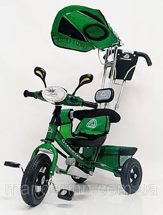 Велосипед WS862AW-M Зеленый (светящаяся фара) колеса-10/12  накачивающиеся. Диски алюминиевые.