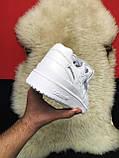 Мужские кроссовки Adidas Forum Mid Full White, мужские кроссовки адидас форум, фото 7