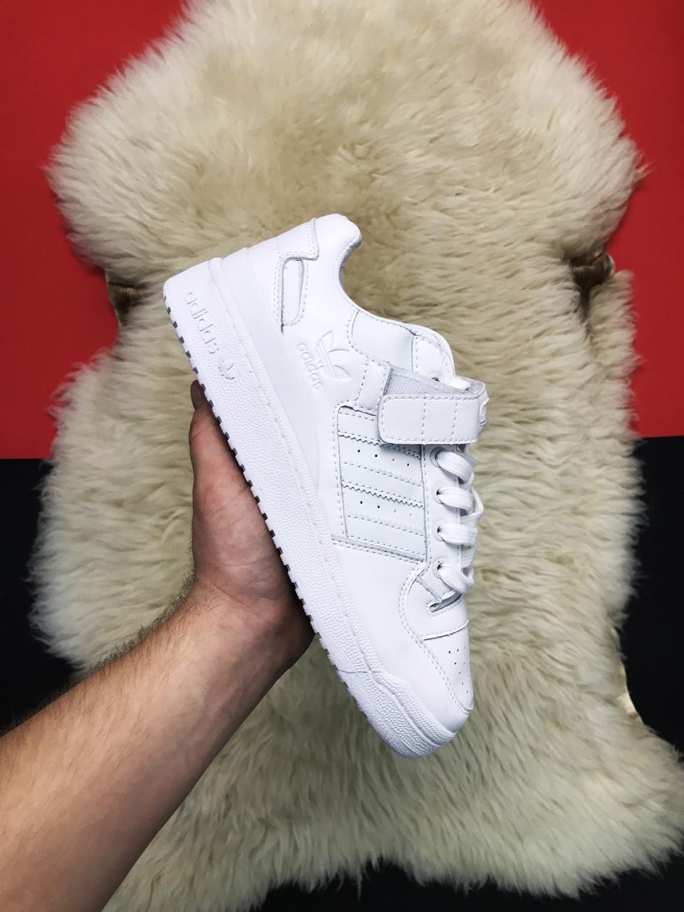 Мужские кроссовки Adidas Forum Mid Full White, мужские кроссовки адидас форум