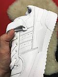 Мужские кроссовки Adidas Forum Mid Full White, мужские кроссовки адидас форум, фото 6