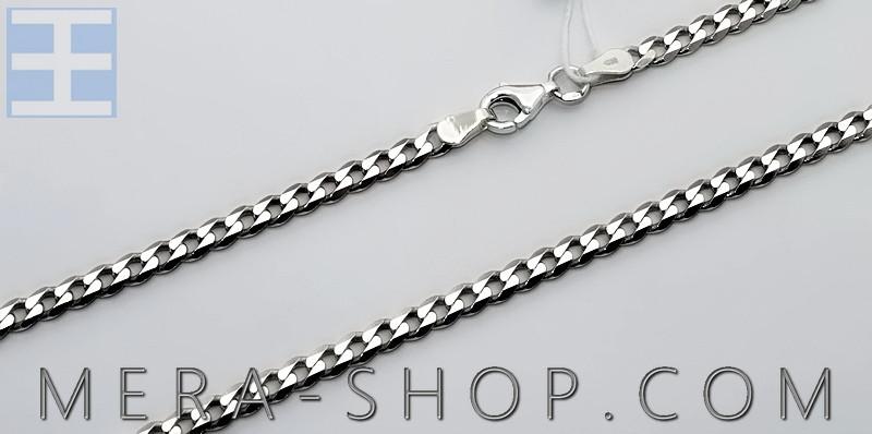 Серебряная цепочка Панцирь, цепь из серебра 925 пробы (45 - 65 см)