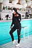 Спортивний костюм жіночий Adidas (3 кольори) РВ/-271 - Чорний