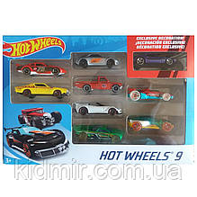 Хот Вилс машинки набор 9 шт. подарочный №1 Hot Wheels
