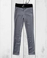 Стрейчевые люриксовые трикотажные леггинсы на замке. 146- 152 рост., фото 1