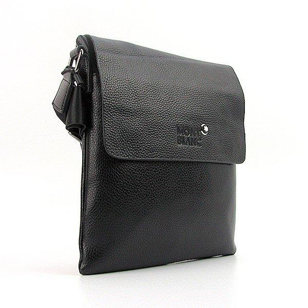 Сумка мужская малая кожзам планшет черная 110301-C