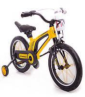 Детский легкий магниевый Велосипед Hammer Brilliant 16 дюймов от 5 лет легкий Желтый