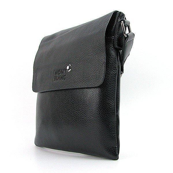 Сумка чоловіча велика кожзам планшет чорна 110301-А