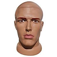 Манекен мужская голова телесного цвета с макияжем