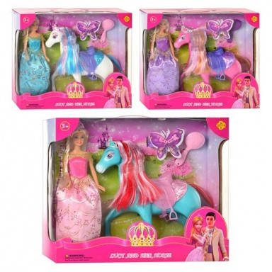 Кукла Defa принцесса с лошадкой и расческой, фото 2