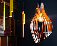 Люстра деревянная   Люстра лофт   Дизайнерский потолочный светильник