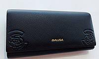 Жіночий шкіряний гаманець Balisa PY-D100 чорний Гаманці і портмоне купити оптом в Україні, фото 1
