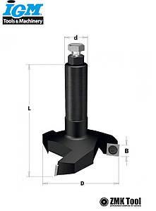 Фреза для вирівнювання площини зі змінними ножами D60 В12 d12 L80 Z3