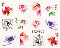 Слайдер дизайн для ногтей водный STZ-922