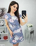 Красивое прямое женское платье до колена в расцветках арт 53