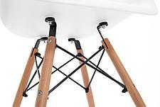 Кресло Жаклин Арт (пластиковое Белое с деревянными ногами), фото 2