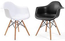 Кресло Жаклин Арт (пластиковое Белое с деревянными ногами), фото 3