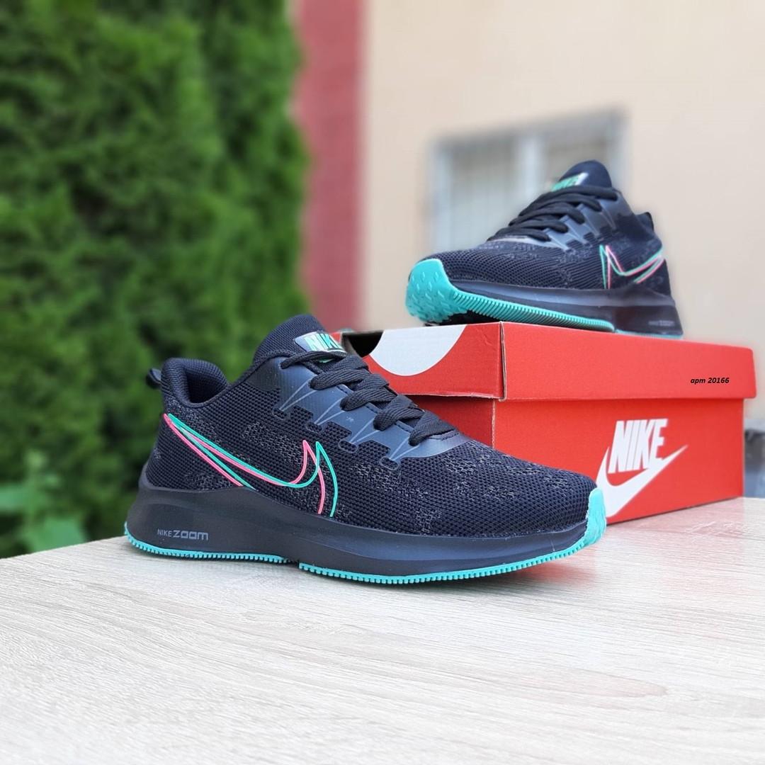 Женские кроссовки Nike Zoom (черно-зеленые) 20166