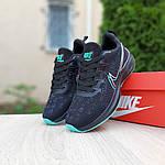 Жіночі кросівки Nike Zoom (чорно-зелені) 20166, фото 3