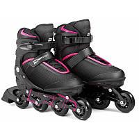 Роликовые коньки 3в1 Hop-Sport HS-903 Motion S (размер 30-33) Черно-розовые