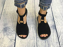Белые кожаные босоножки сандалии 1 см каблук, кожа или замша пошив с рюшечкой размеры 36-41, фото 3