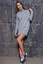 Вязаная женская туника-платье под горло (2106 sk), фото 3