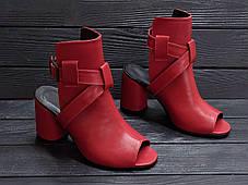Красивые босоножки на каблуке 8 см каблук, кожа или замша пошив размеры 36-40, фото 3