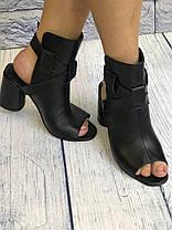 Красивые босоножки на каблуке 8 см каблук, кожа или замша пошив размеры 36-40, фото 2