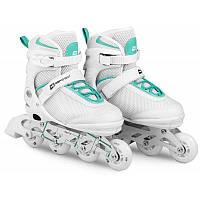 Роликовые коньки 3в1 Hop-Sport HS-903 Motion S (размер 30-33) Бело-мятные