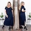 Платье летнее прямого фасона длинное лён 48-50,52-54,56-58,60-62, фото 2
