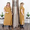 Платье летнее прямого фасона длинное лён 48-50,52-54,56-58,60-62, фото 3