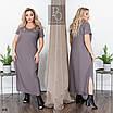 Платье летнее прямого фасона длинное лён 48-50,52-54,56-58,60-62, фото 4