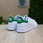 Мужские кроссовки Adidas Stan Smith (бело-зеленые) 10218, фото 7