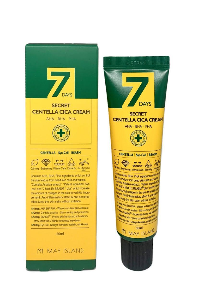 Восстанавливающий крем для проблемной кожи May Island 7 Days Secret Centella Cica Cream