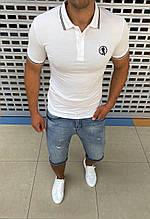 Мужская футболка поло Bikkembergs H0722 белая