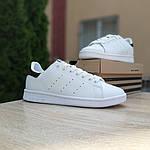 Мужские кроссовки Adidas Stan Smith (бело-черные) 10219, фото 5