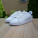 Мужские кроссовки Adidas Stan Smith (бело-черные) 10219, фото 8