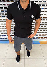 Мужская футболка поло Bikkembergs H0723 черная