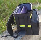 Терморюкзак для доставки напитков, пива с перегородкой и накладным карманом. Сумка для напитков, пива., фото 5