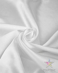 Ткань Атлас стрейч тонкий белый