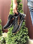 Мужские кроссовки Asics (черно-оранжевые) 9623, фото 2