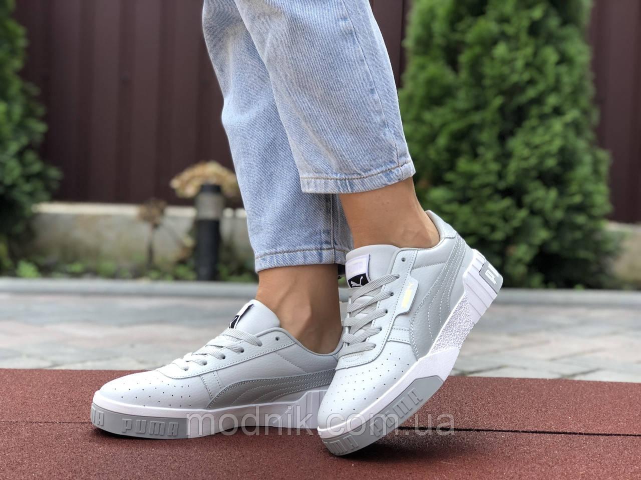 Женские кроссовки Puma Cali Bold (серо-белые) 9627