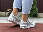 Женские кроссовки Puma Cali Bold (серо-белые) 9627, фото 2