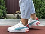 Женские кроссовки Puma Cali Bold (бело-мятные) 9629, фото 2