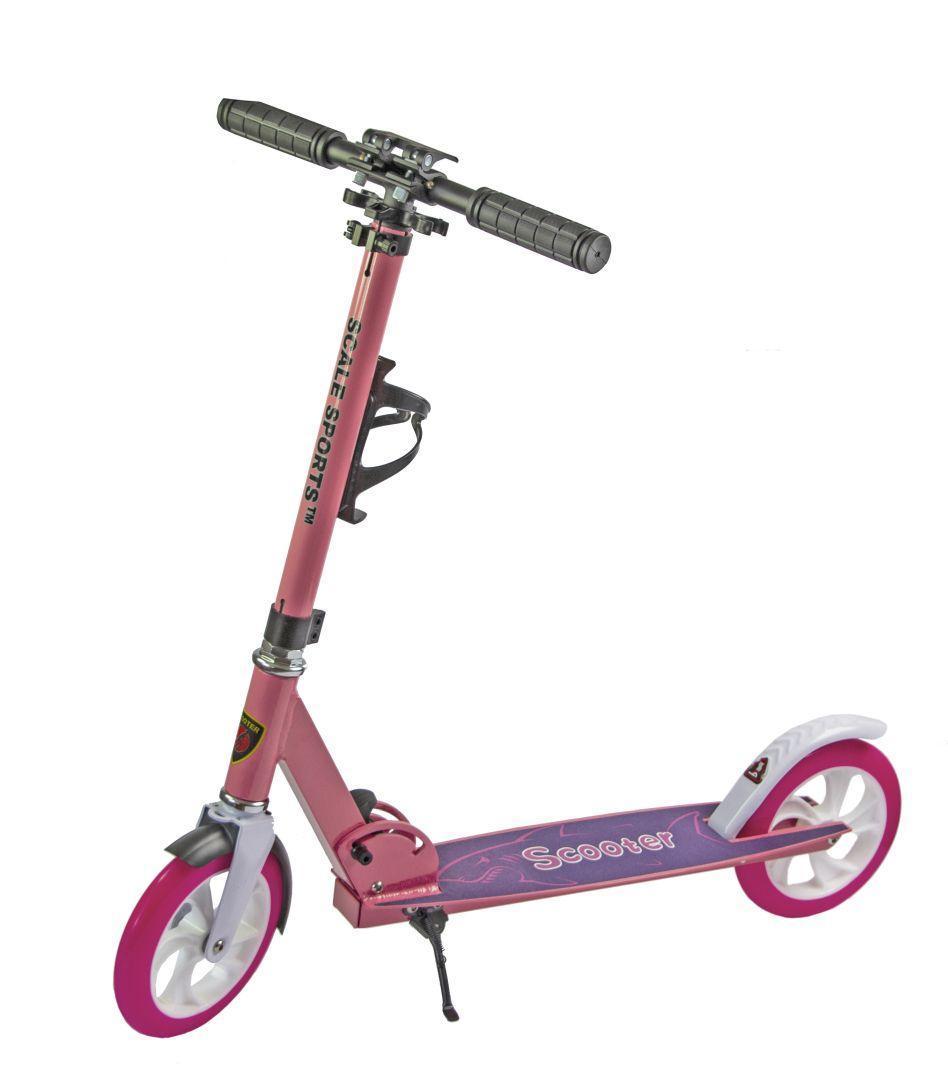 Самокат складной для подростков и взрослых двухколесный Scale Sports Scooter до 100 кг с подножкой