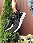 Чоловічі кросівки Asics (чорно-білі) 9614, фото 4