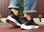 Чоловічі кросівки Asics (чорно-білі з червоним) 9615, фото 4