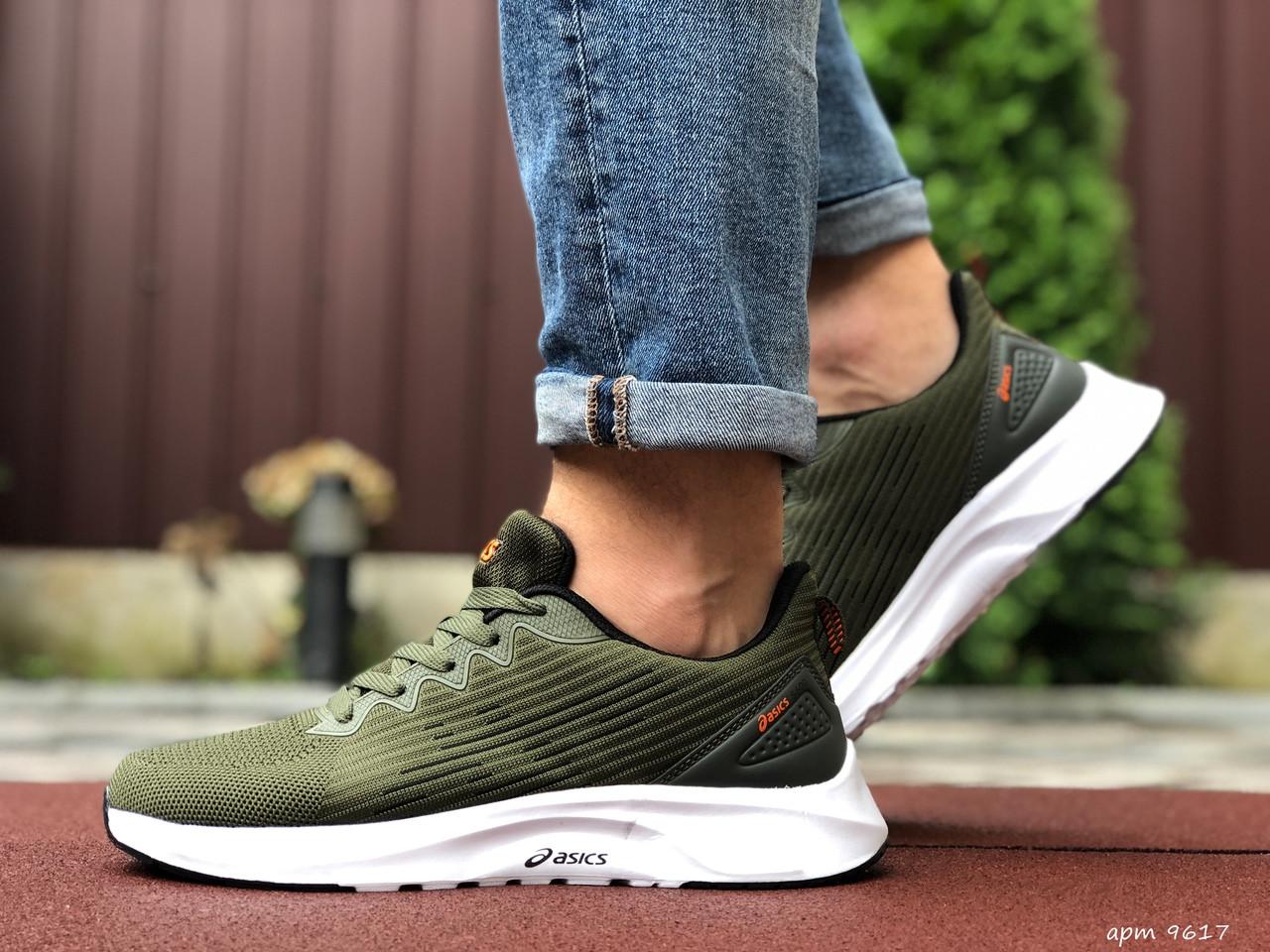 Чоловічі кросівки Asics (темно-зелені) 9617