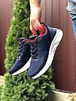 Мужские кроссовки Asics (сине-белые с красным) 9618, фото 3